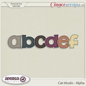 Cat-titude - Alpha by Aprilisa Designs