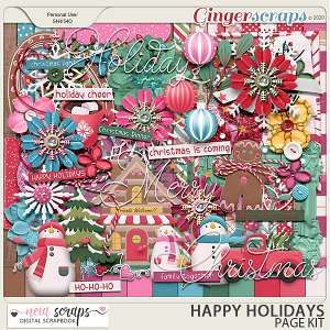 Happy Holidays - Page Kit - by Neia Scraps