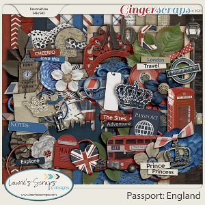 Passport: England Page Kit