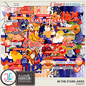 In The Stars: Aries Page Kit by JB Studio and Aimee Designs