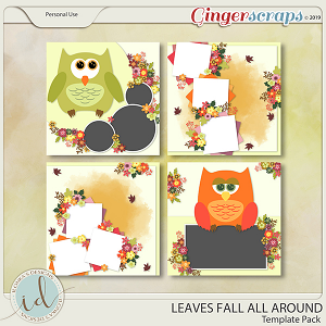 Leaves Fall All Around Template Pack by Ilonka's Designs