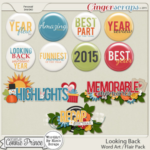 Looking Back - WordArt & Flair Pack