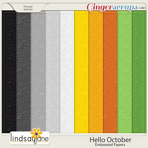 Hello October Embossed Papers by Lindsay Jane