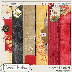 Chinese Festival - Messy Papers by Connie Prince