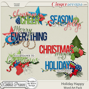 Holiday Happy - WordArt Pack