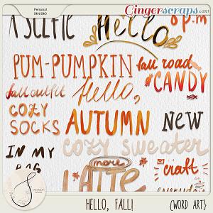 Hello, Fall! Word Art