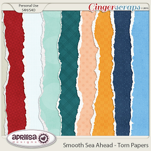 Smooth Sea Ahead - Torn Papers by Aprilisa Designs