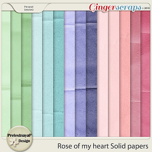 Rose of my heart Solid papers