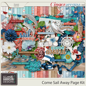Come Sail Away Page Kit by Aimee Harrison