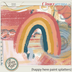 Happy Here Paint Splatters by Chere Kaye Designs