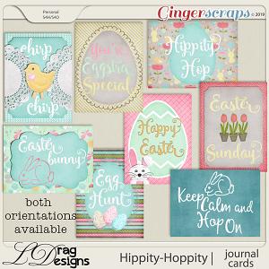Hippity Hoppity: Journal Cards by LDragDesigns