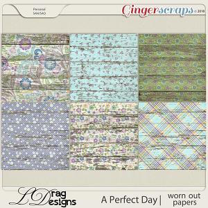A Perfect Day: Worn Out Papers by LDrag Designs