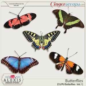 Butterflies Vol. 1 - CU by Alexis Design Studio
