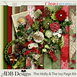 The Holly and The Ivy Page Kit by ADB Designs