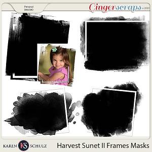 Harvest Sunset II Framed Masks by Karen Schulz