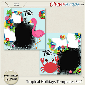 Tropical Holidays Templates Set1