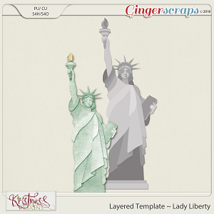 CU Lady Liberty Layered Template