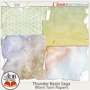 Thunder Basin Saga Worn & Torn Papers by ADB Designs