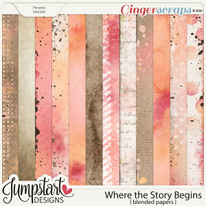 Where the Story Begins {Blended Papers}