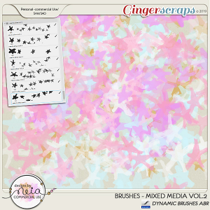 Brushes -Mixed Media VOL 02- by Neia Scraps - CU
