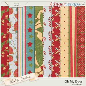 Oh My Deer Glitter Papers