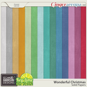 Wonderful Christmas Solid Papers by Aimee Harrison and Key Lime Digi Design