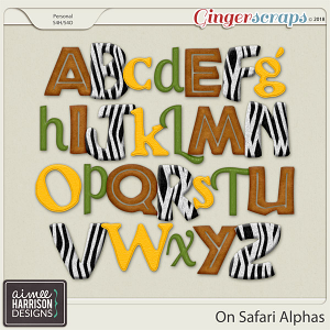 On Safari Alpha Sets by Aimee Harrison