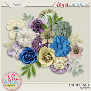 Love Yourself- Flowers - By Neia Scraps