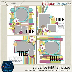Stripes Delight Templates by Miss Fish
