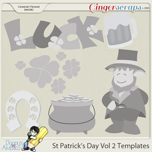 Doodles By Americo: St Patrick's Day Vol 2 Templates