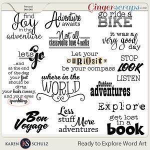 Ready to Explore Word Art by Karen Schulz