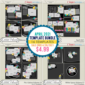April 2021 Template Bundle by Connie Prince