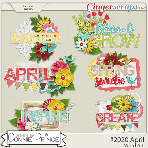 #2020 April - Word Art Pack by Connie Prince