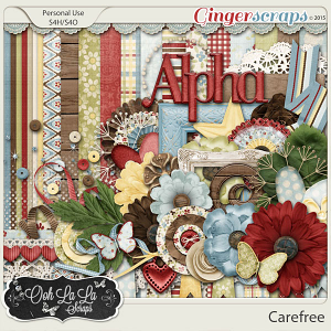 Carefree Digital Scrapbook Kit