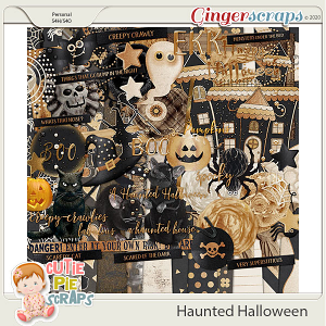 Haunted Halloween Page Kit