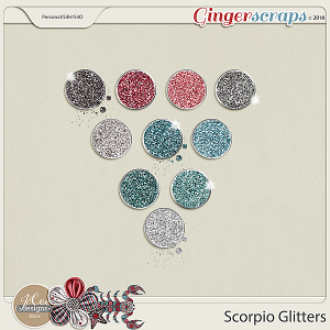 Scorpio Glitters by JoCee Designs