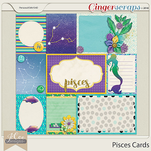 Pisces Cards by JoCee Designs