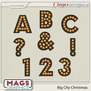Big City Christmas ALPHA by MagsGraphics