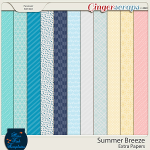 Summer Breeze Extra Paper Pack Add On by Miss Fish