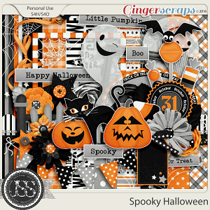 Spooky Halloween Digital Scrapbooking Kit