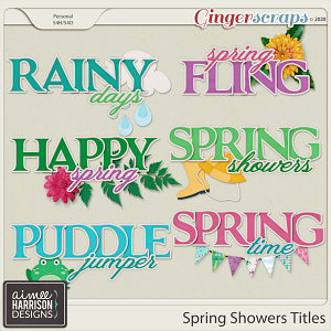Spring Showers Titles by Aimee Harrison