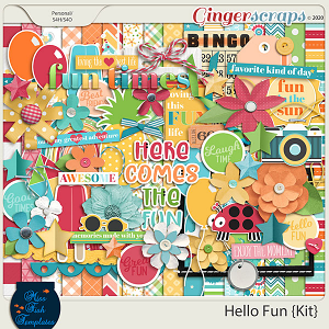 Hello Fun Digital Scrapbook Kit by Miss Fish