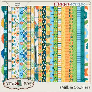 Milk and Cookies Paper Pack - Scraps N Pieces