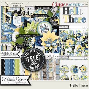 Hello There Digital Scrapbook Bundle