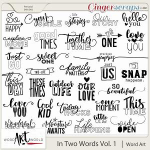 In Two Words Vol. 1 Word Art