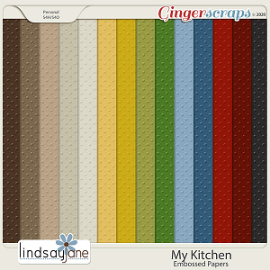 My Kitchen Embossed Papers by Lindsay Jane