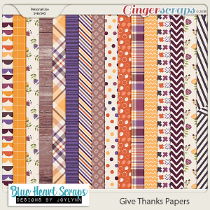 Give Thanks Patterned Paper Pack