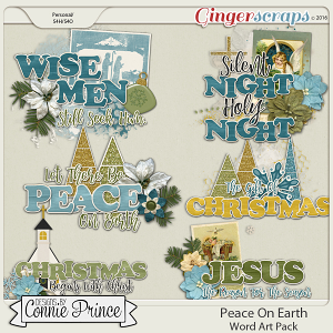 Peace On Earth - WordArt Pack