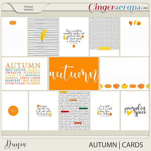 Autumn   Cards  by Dunia Designs