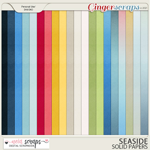 Seaside - Solid & Ombre Papers - by Neia Scraps